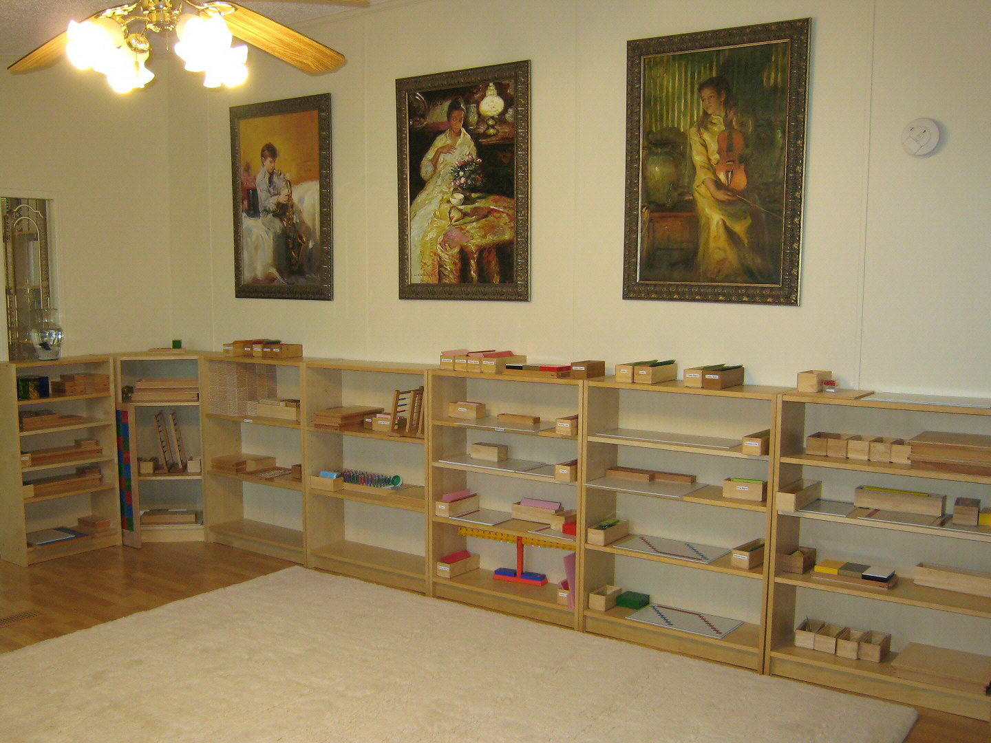Montessori Classroom Design The classroom is filled with a